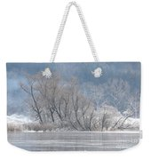 Trees On A Frozen Lake Weekender Tote Bag