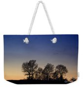 Trees On A Hill In Sunset Weekender Tote Bag