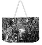Trees On The Mall In Central Park In Black And White Weekender Tote Bag
