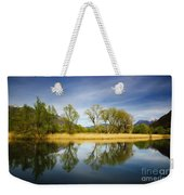 Trees Reflections On The Lake Weekender Tote Bag