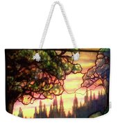 Trees Stained Glass Window Weekender Tote Bag