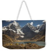 Trekkers Camp Near Carhuacocha Lake Weekender Tote Bag