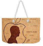 Tribute To Steve Jobs Weekender Tote Bag
