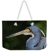 Tricolor Heron Portrait Weekender Tote Bag