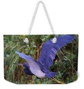 Tricolored Heron In Flight Weekender Tote Bag