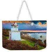 Trinidad Memorial Lighthouse Morning Weekender Tote Bag