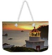 Trinidad Memorial Lighthouse Sunset Weekender Tote Bag