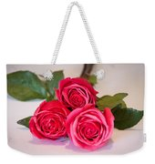 Trio Of Pink Roses Weekender Tote Bag