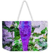 Triptych Cobalt Blue Purple And Magenta Bottles Triptych Vertical Weekender Tote Bag