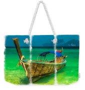 Triptych Longboat Weekender Tote Bag