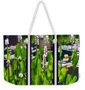 Triptych Of Water Hyacinth Weekender Tote Bag