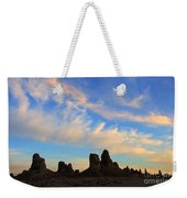 Trona Pinnacles At Sunset Weekender Tote Bag