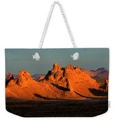 Trona Pinnacles Panorama Weekender Tote Bag by Bob Christopher