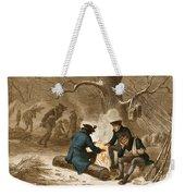 Troops At Valley Forge Weekender Tote Bag