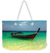 Tropical Boat Weekender Tote Bag