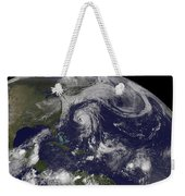 Tropical Cyclones Katia, Lee, Maria Weekender Tote Bag