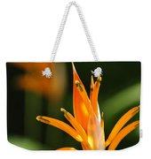 Tropical Orange Heliconia Flower Weekender Tote Bag