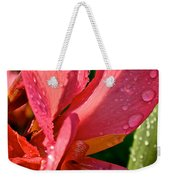 Tropical Rose Canna Lily Weekender Tote Bag