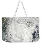 Tropical Storm Muifa Over China Weekender Tote Bag