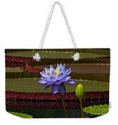 Tropical Water Lilies Weekender Tote Bag