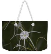 Tropical White Spider Lily Weekender Tote Bag
