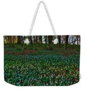 Trout Lilies On Forest Floor Weekender Tote Bag by Steve Gadomski