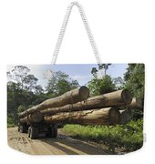 Truck With Timber From A Logging Area Weekender Tote Bag