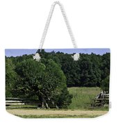 Trumpet Vine And Fence At Appomattox Courthouse Virginia Weekender Tote Bag by Teresa Mucha