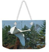 Trumpeter Swan In Flight Weekender Tote Bag