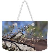 Tufted Titmouse - Bird - Color In Shadows Weekender Tote Bag