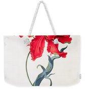 Tulip Perroquet Rouge Weekender Tote Bag