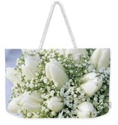 Tulip Tulipa Sp And Babys Breath Weekender Tote Bag
