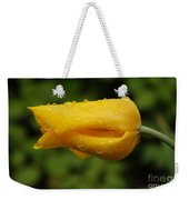 Tulip With Raindrops 2 Weekender Tote Bag