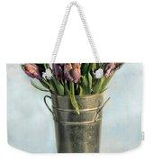 Tulips In Metal Vase Weekender Tote Bag