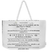 Tull: Title Page, 1762 Weekender Tote Bag