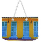 Turquoise And Yellow Weekender Tote Bag