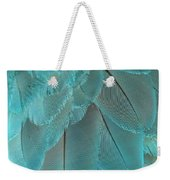 Turquoise Blue Feathers Weekender Tote Bag