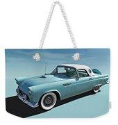 Turquoise T-bird Weekender Tote Bag
