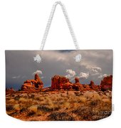 Turret Arch And Storm Clouds Weekender Tote Bag
