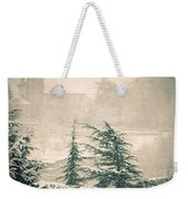 Turret In Snow Weekender Tote Bag