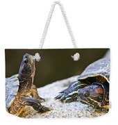Turtle Conversation Weekender Tote Bag by Elena Elisseeva