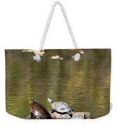 Turtle Print Weekender Tote Bag