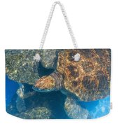 Turtle Underwater,high Angle View Weekender Tote Bag