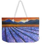 Tuscany Lavender Field Weekender Tote Bag