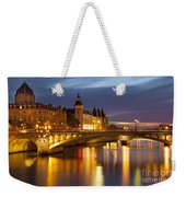 Twilight Over River Seine And Conciergerie Weekender Tote Bag