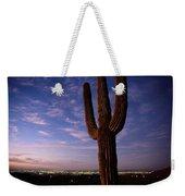 Twilight View Of A Saguaro Cactus Weekender Tote Bag
