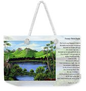 Twin Ponds And 23 Psalm On White Weekender Tote Bag