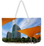 Twin Towers Weekender Tote Bag by Carlos Caetano