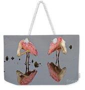 Twins Spoonbills On The Lake Weekender Tote Bag