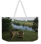 Two Adirondack Chairs On A Scenic Weekender Tote Bag